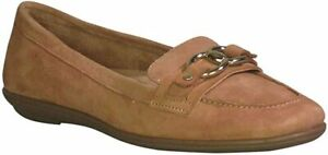 NATURALIZER AINSLEY LOAFER - COOKIE DOUGH - SUEDE - SIZE 4UK