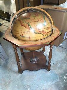 Antique Large Globe Bar Cart Florence