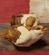 Artifice Ottanta Vintage Love Birds Figurine Italy Signed D. Esposito Sculpture