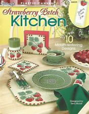 Strawberry Patch Kitchen Plastic Canvas Patterns Placemats Coasters Tissue Cover