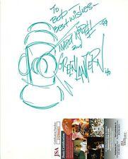 Martin Nodell Cartoonist Hand Drawn Green Lantern Sketch Signed 9x11 w/ JSA COA