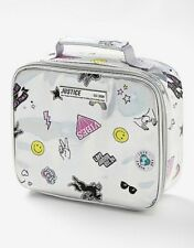 New! Justice Girls Holo Sticker Lunch Tote Rectangular