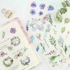 6Sheets Natural Diary Stationery DIY Scrapbooking Adhesive G4R3 S2 Stickers Q2Y0