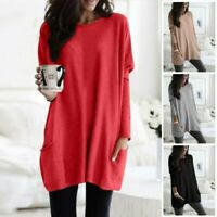 Women Pullover Plus Size Loose Jumper Tunic Long Sleeve Baggy 5XL T-shirt Casual