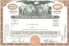 10 Stock Certificates of Pan American World Airways, Inc. (Dealer's Lot)