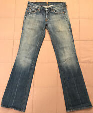 womens 7FAM Seven 7 FOR ALL MANKIND low rise Boot cut denim jeans 26 W28 *paint