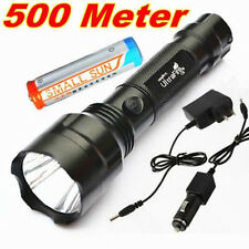500 METER 1500LM UltraFire CREE Q5 LED Rechargeable 18650 Flashlight Torch D8 AU