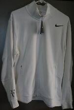 New MEN'S Nike RF Roger Federer Premier Knit Jacket White 523321-100 LARGE