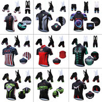 Cool Mens Cycling Outfits Jersey Regular Shorts Kits Bike Shirt Pad Pants New