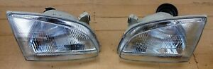 TOYOTA STARLET EP91 EP90  HEADLIGHTS 1996 99 MODEL PAIR LEFT  RIGHT AFTERMARKET