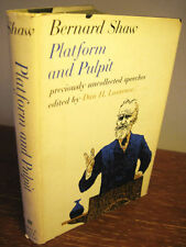 1st/1st Printing Platform Pulpit Bernard Shaw Uncollected Speeches Rare Classic
