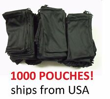 Cheap Bulk Lot 1000 Black Micro Fiber Sunglasses Carrying Pouch Case Bag Sleeve