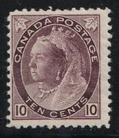 CANADA NO 83, QUEEN VICTORIA NUMERAL ISSUE , MINT WITH HINGE REMNANT