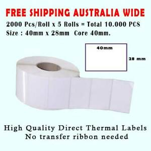 10.000Pcs Waterproof 40 x 28 mm Thermal Label Barcode Labels Roll Sticker