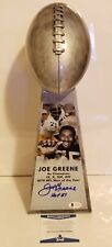 Mean Joe Greene Signed Pittsburgh Steelers Replica Lombardi Trophy Insc. Beckett
