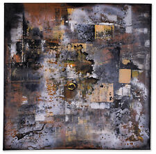 Art Extra Large Handmade Black & Yellow Abstract Canvas Wall Art Modern Painting