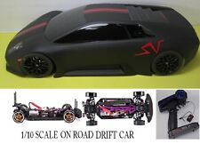 1/10 Scale WIDE  Lamborghini Murcielago RTR Custom RC Drift Cars 4WD  BLK & RED