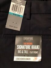 Dockers Signature Khaki Big & Tall Size 46x29 Navy Brand New with Tags