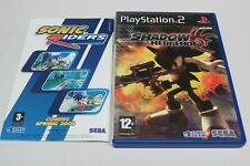 Shadow The Hedgehog PlayStation 2 PS2 UK PAL English Ages * VGC *