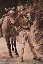 LOT OF 2 POSTERS: COWBOY #2 WITH HORSE  - MALE MODEL -  FREE SHIP #2890  RW10 P