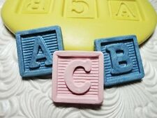 Silicone Resin Polymer Clay Fimo Fondant Flexible Push Mold Baby ABC Blocks 3702
