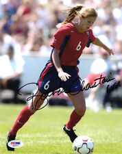 BRANDI CHASTAIN SIGNED AUTOGRAPHED 8x10 PHOTO TEAM USA SOCCER LEGEND PSA/DNA