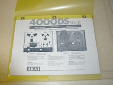 AKAI 4000DS MK-II   REEL TO  REEL  OPERATOR'S MANUAL FREE SAME DAY SHIPPING