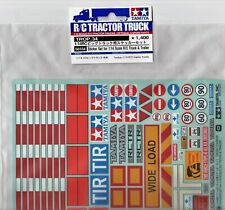 Tamiya Sticker Set-Decals for Tamiya 1:14 RC Trucks & Prime Movers