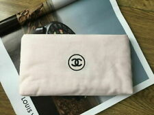 New CC Light Pink Linen Makeup Cosmetic Bag Pouch from CHANEL BEAUTY