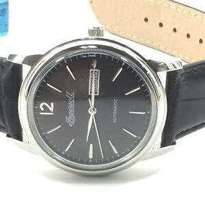 Ingersoll Men's New Haven I00502 40mm Black Dial Leather Automatic Watch