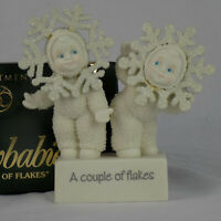 Snowbabies Department 56 Couple of Flakes Decorative Christmas Holiday Winter