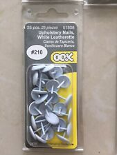 Matte White Furniture Wall Upholstery Studs Tacks - 250 pc - New, Unopened