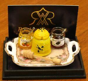 Reutter Porzellan Breakfast Spread Set: Honey Pot & Jam 1:12 Dollhouse Miniature