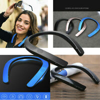 Bluetooth 5.0 Wireless Neckband FM AUX SD USB Stereo Bass Portable Neck Speaker