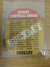 "1975/1976 Rugby Union: Buckley Beer mat - ""lo rendono un B-LINE per un' BUCKLEY"", sulla"
