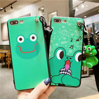 Lovely Cartoon Frog Music Phone Case Cover For iPhone X XS Max XR 6 7 8 Plus