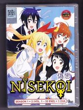 *NEW* NISEKOI SEASONS 1 & 2 *32 EPS & 3 OVA*ANIME DVD*ENG SUBS*US SELLER*