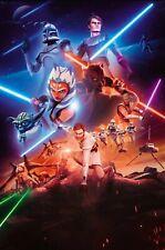 Star Wars Clone Trooper Robots Fighting Classic Movie Fabric Decor Poster B573