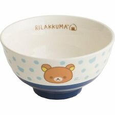 NEW Rice Bowl Blue Rilakkuma Relax Teddy Bear Animal Tableware Kitchen Gift