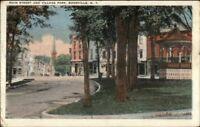 Boonville NY Main St. & Village Park c1920 Postcard