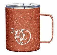 New listing 12 oz Red Double Wall Insulated Coffee Mug Stainless Steel Tumbler, Lid & Handle
