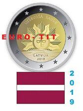 2 €  LETTONIE  COMMEMORATIVE  1 X  PIECE  2019    SOLEIL LEVANT  NOUVEAU    2019