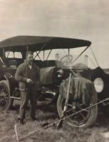 Postcard, RPPC Man With Old Car Lethbridge Alberta Canada Vintage P29