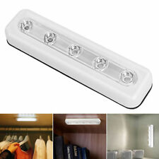 LED Touch Operated Battery Stick on Wall Lamp Under Cabinet Cupboard Night Light