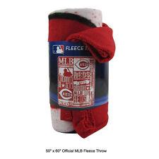 "New Northwest MLB Cincinnati Reds Fleece Throw Blanket Large Size 50"" x 60"""