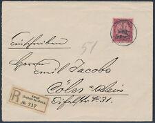 DOA 60 Heller Kaiseryacht Einschreiben Amani 1907 nach Köln (S15327)