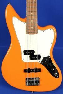 Fender Player Series Jaguar Capri Orange Electric Bass Guitar w/ Gig Bag
