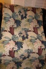 Vintage Barkcloth fabric/panel nubby~ Palm Trees tropical motif circa 1940`s