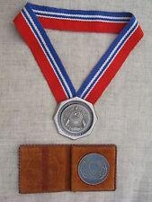 Soviet Vintage Judge Neck Sign & Justice Department Medal Set.