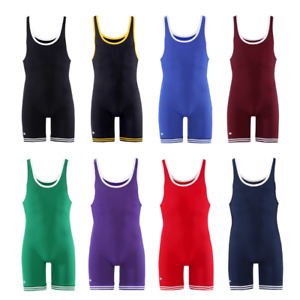 Matman Wrestling Singlet Adult Men's Double Knit Nylon Weightlifting Made in USA